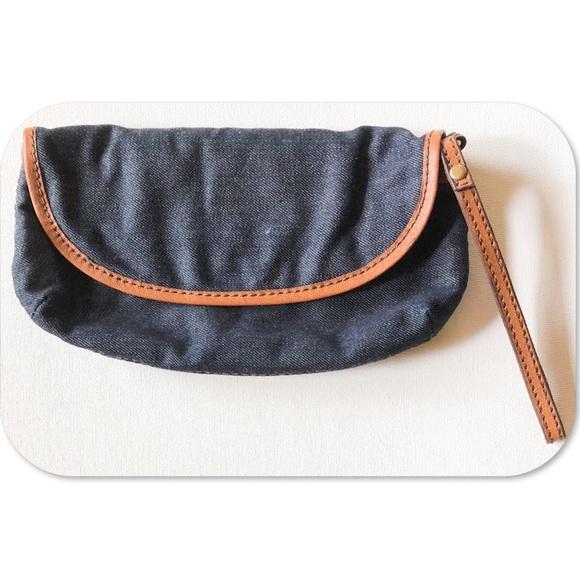 Lucky Brand Handbags - Lucky Brand Denim Clutch